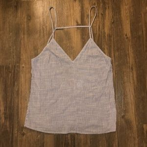 By The Way Striped Cami Tank Top Size Medium EUC